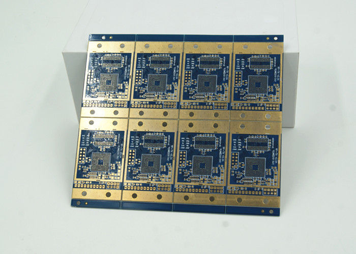 6 Layer High Frequency HDI Universal PCB Board Blue Solder Mask BGA HDI Circuit Boards